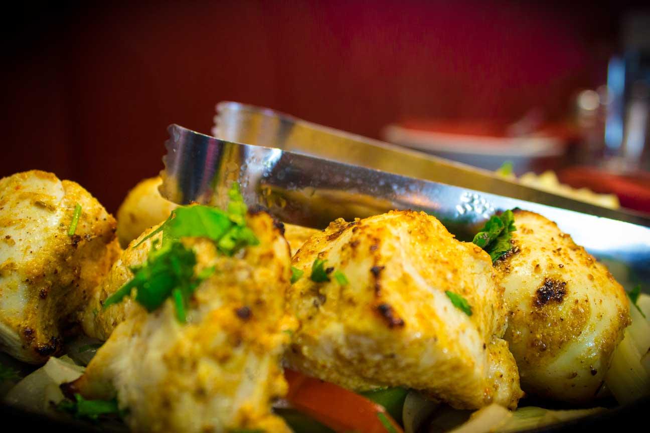 Tandoori grill at TAJ PALACE Restaurant YAKIMA.
