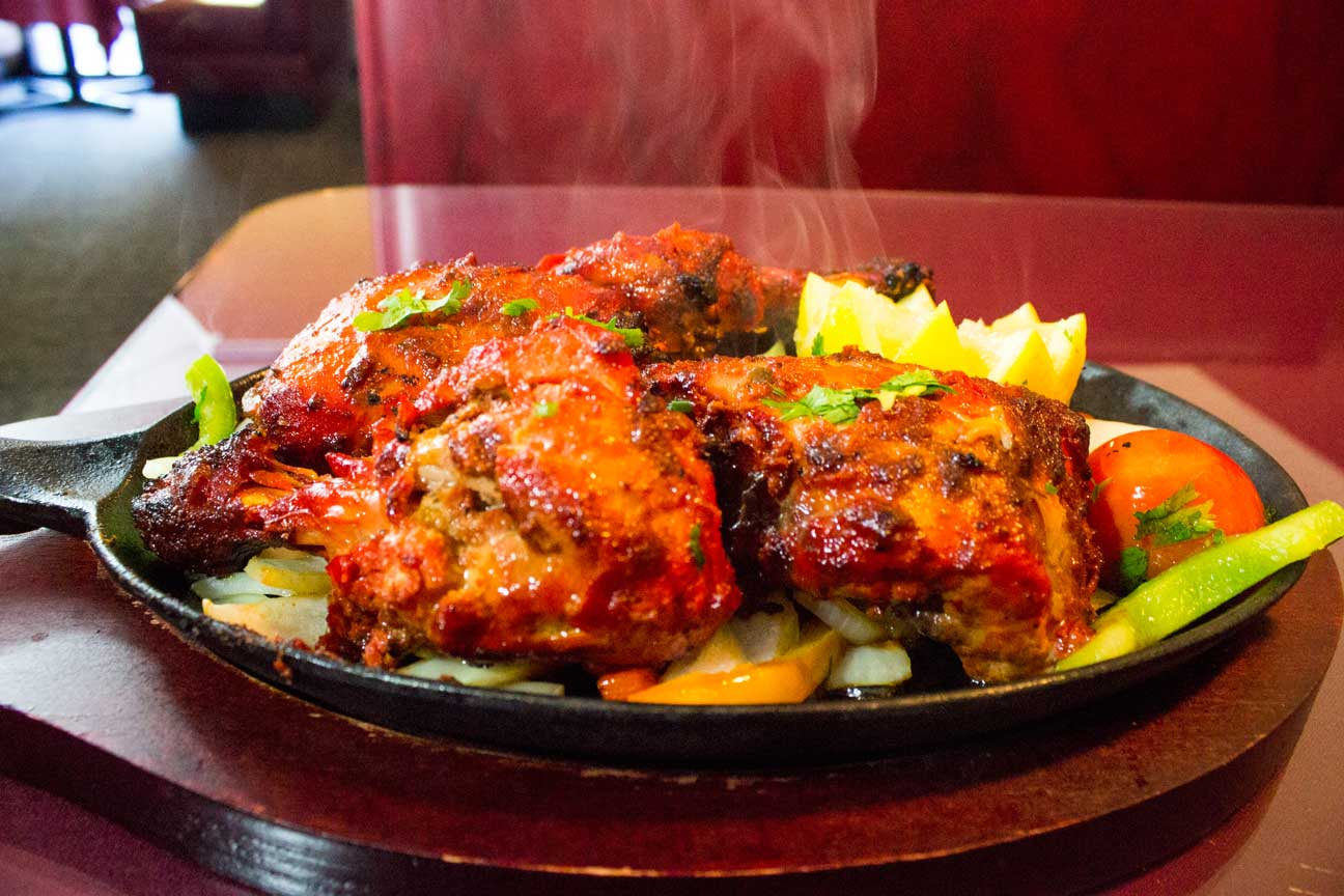 Delicious Tandoori chicken from clay oven