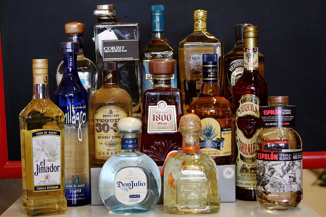 tequila selection